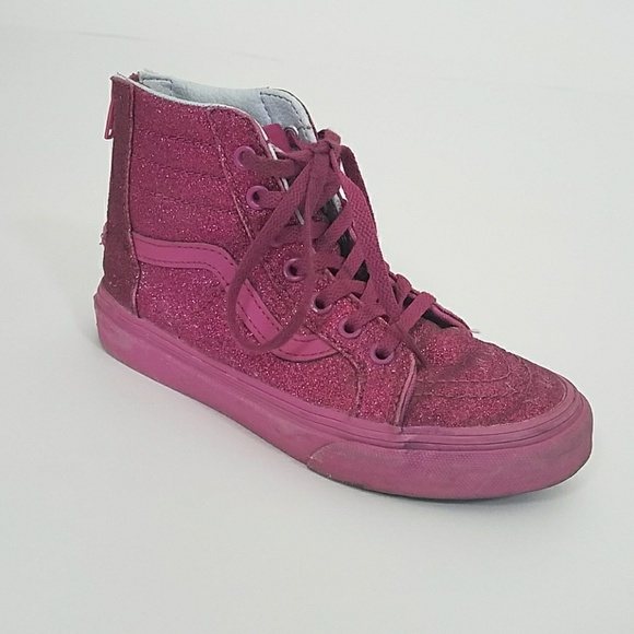 378cd05063 Vans Hot Pink Glitter High Top. M 5b1acda3aa877022a63d021f. Other Shoes ...